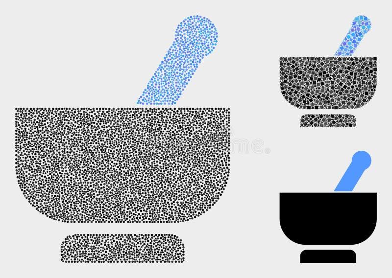 Pixel Vector Mortar Icons vector illustration