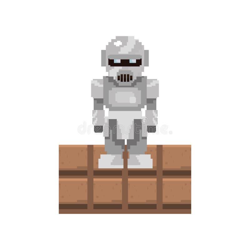 Pixel video game vector illustration