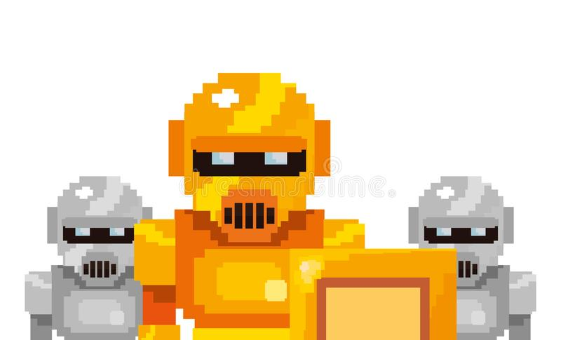Pixel video game royalty free illustration