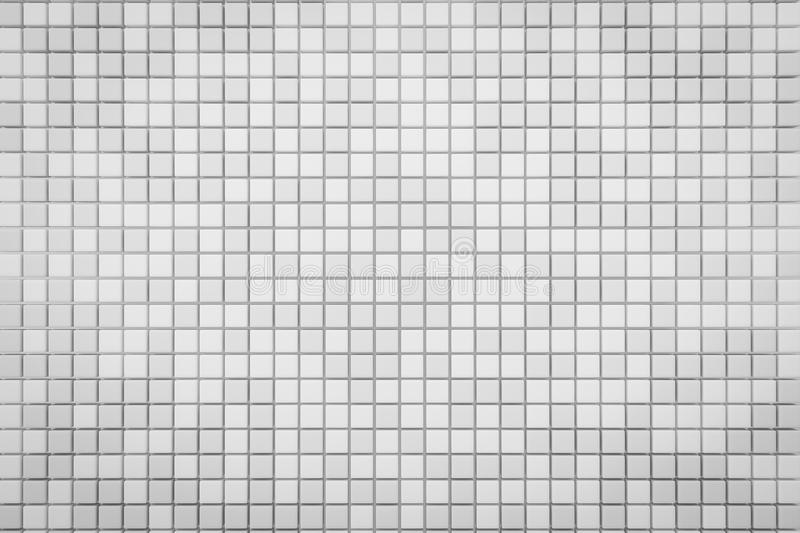 Pixel White Grid Background 3d Render With Copy Space