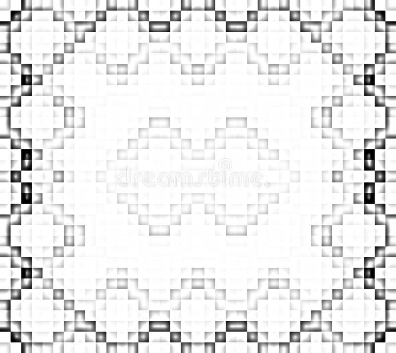 Pixel wit en zwart patroon stock illustratie