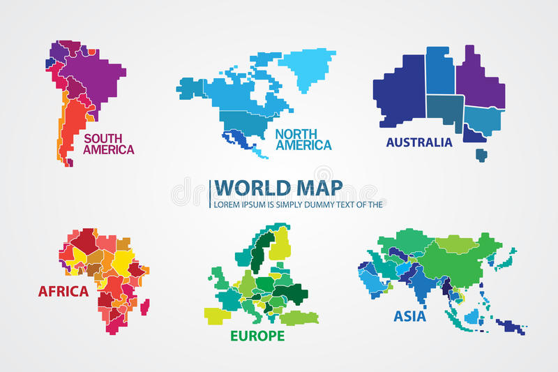 Pixel world map design vector stock illustration illustration of download pixel world map design vector stock illustration illustration of digitally land 63808097 gumiabroncs Image collections
