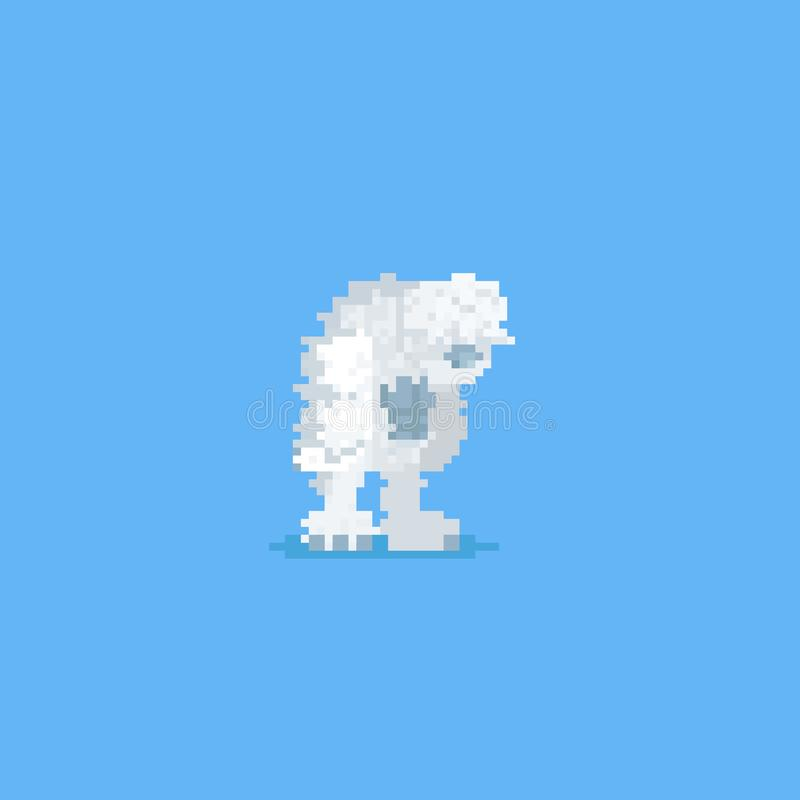 Yeti Pixel Art Bigfoot Pixelated Abominable Snowman Old