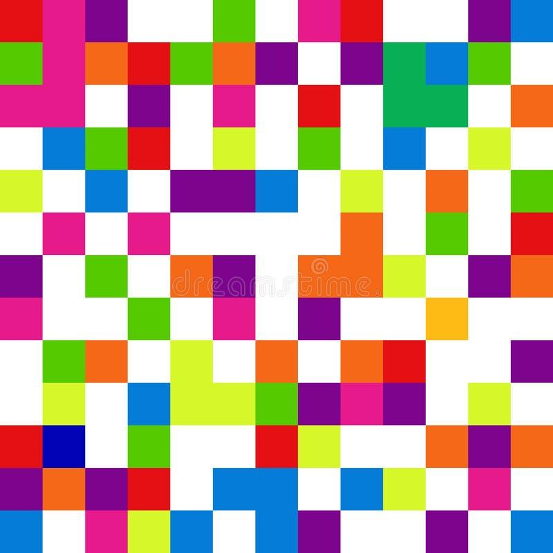 Pixelachtergrond in stijl met 8 bits, digitaal naadloos patroon, vecto stock illustratie