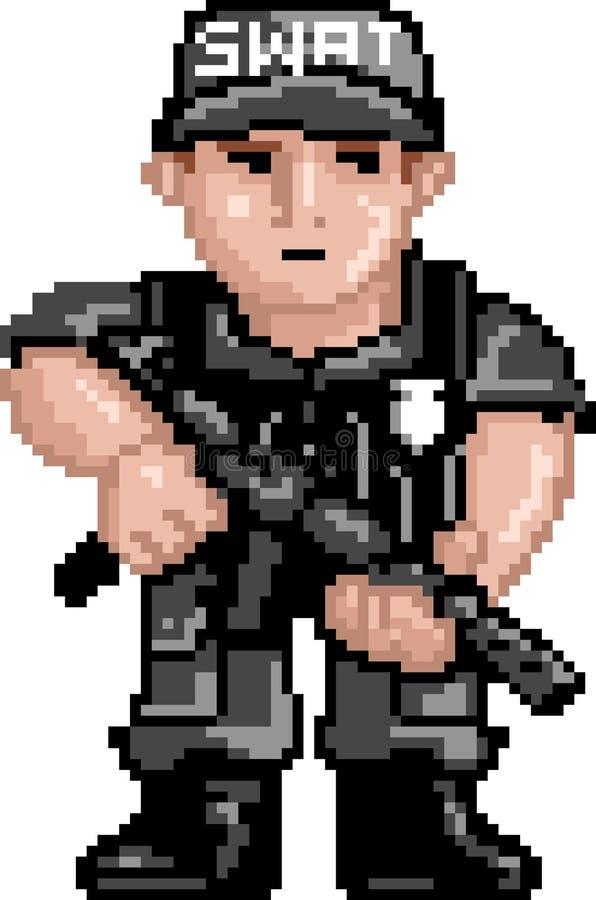 PixelArt : La police FRAPPE illustration stock