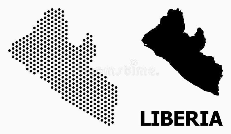 Pixelated利比里亚的样式地图 皇族释放例证