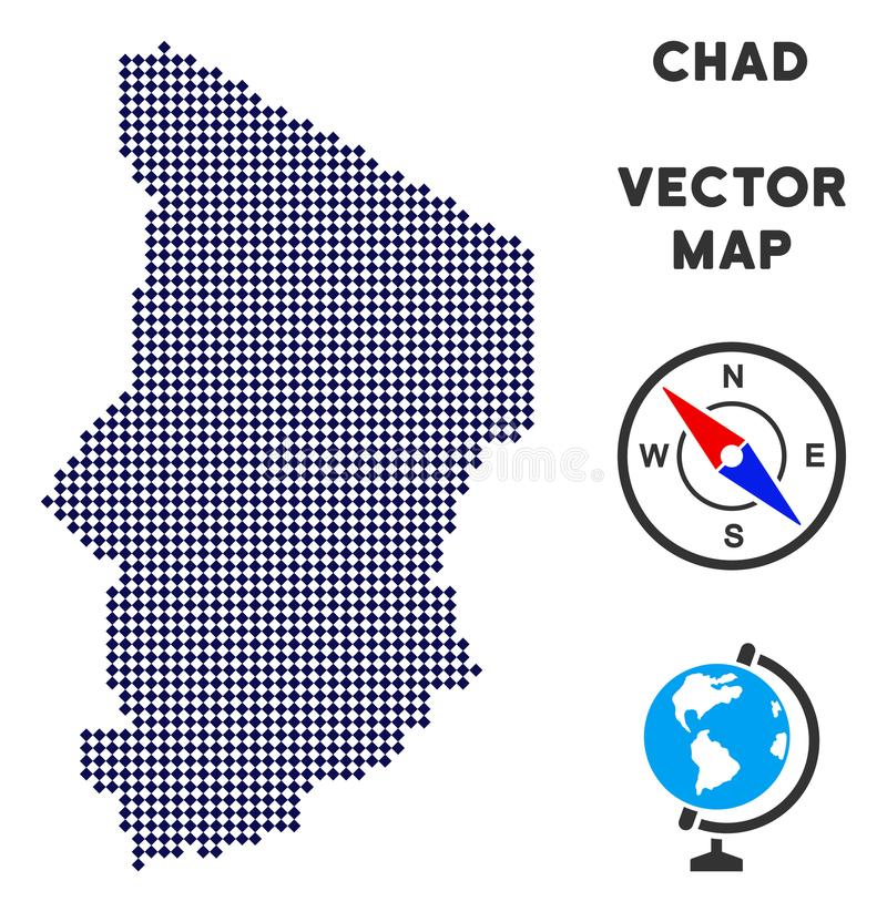 Pixelated Chad Map illustration de vecteur