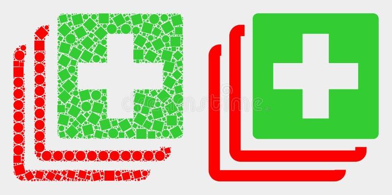 Pixelated e ícone médico dos dados do vetor liso ilustração royalty free