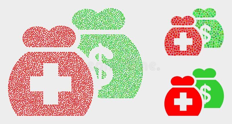 Pixelated funduszy Wektorowe Medyczne ikony ilustracji