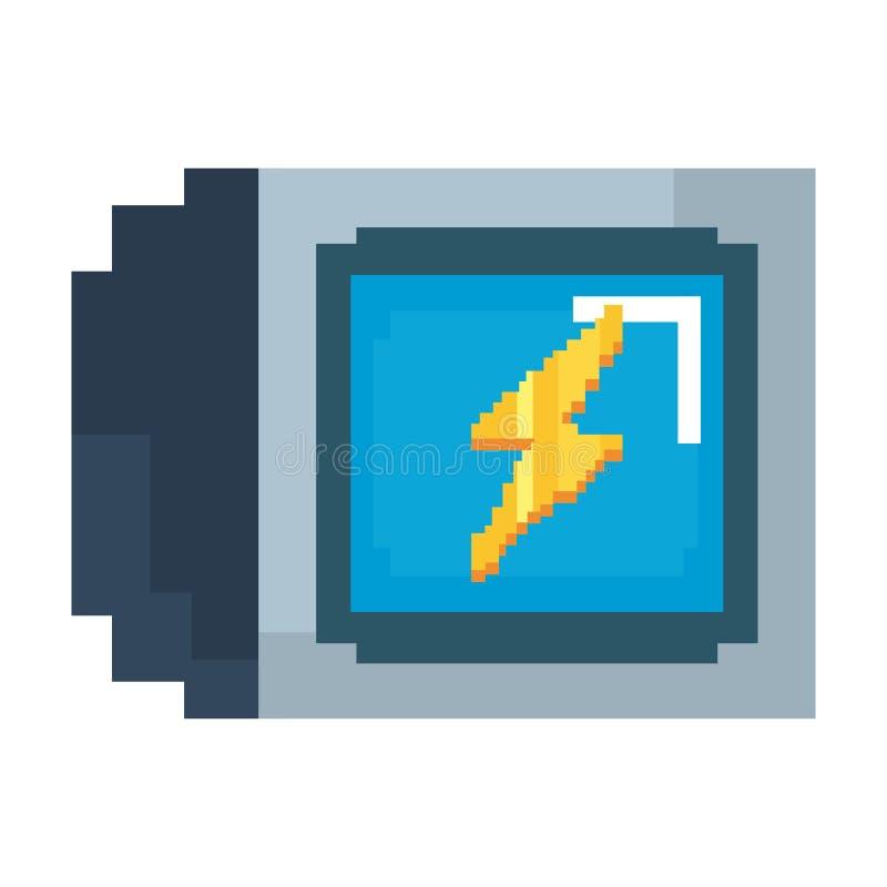 Pixelated gra wideo ilustracji
