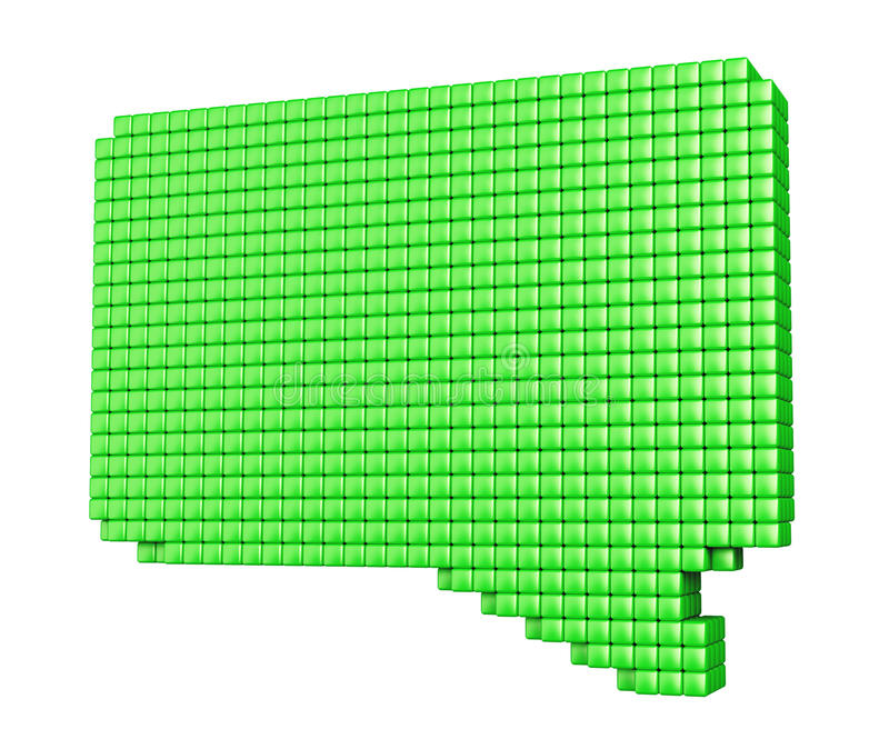 Download Pixelated Green Bubble Form On White Stock Illustration - Image: 33363628