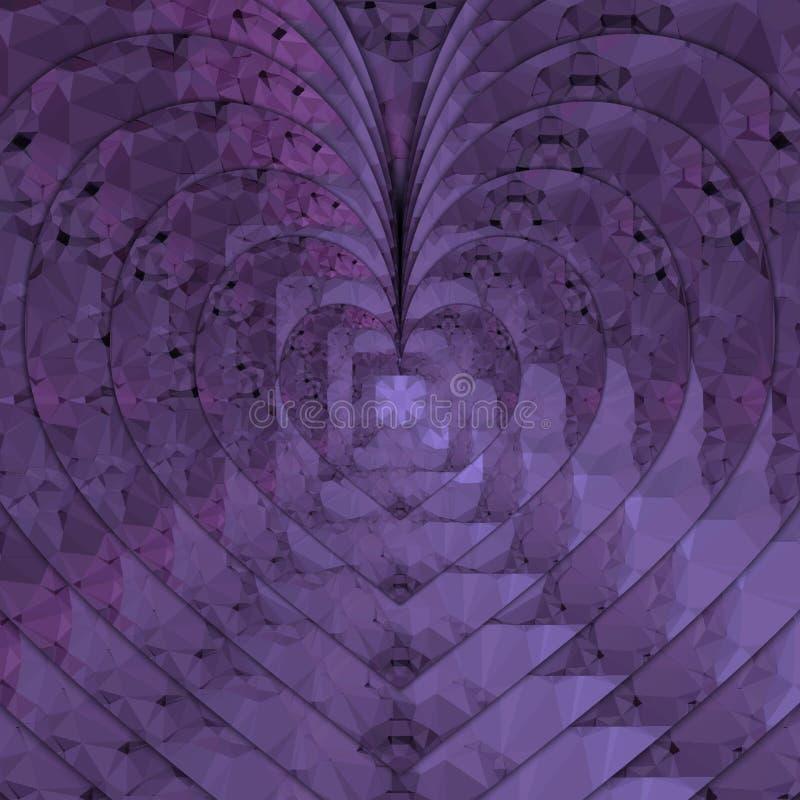 Pixelated hjärtor royaltyfri fotografi