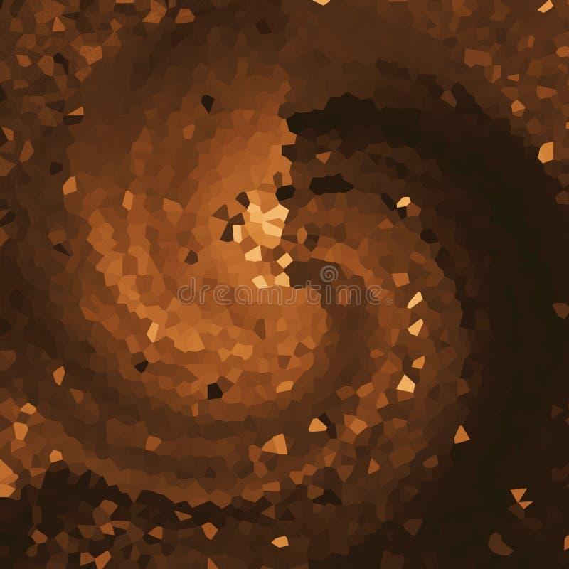 Pixelated maserte helle Tapete Dunkles kupfernes digitales Papier Gut für Handwerk, Geschenk, Dekor u. Themen lizenzfreie abbildung