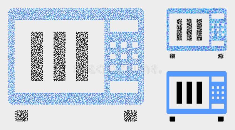 Pixelated mikrofali piekarnika Wektorowe ikony ilustracja wektor