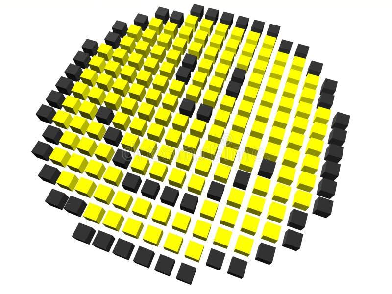 pixelated smiley vektor illustrationer