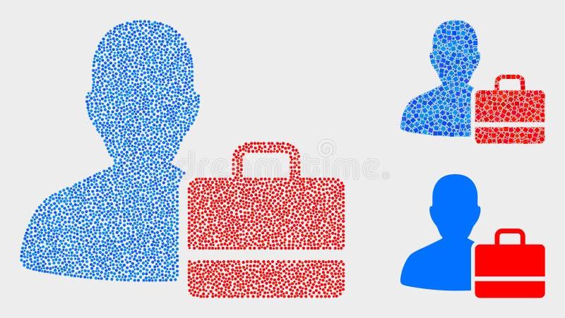 Pixelated użytkownika skrzynki Wektorowe ikony ilustracji