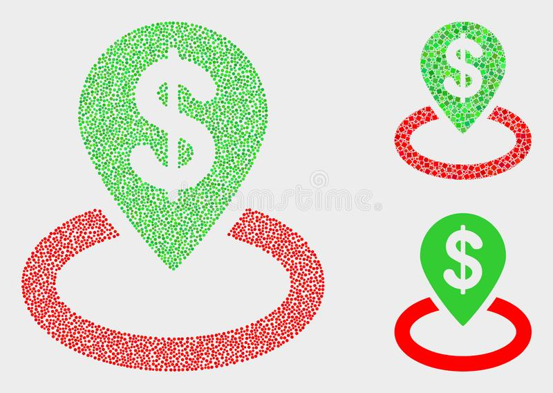 Pixelated Vector Bank Location Icons royalty free illustration