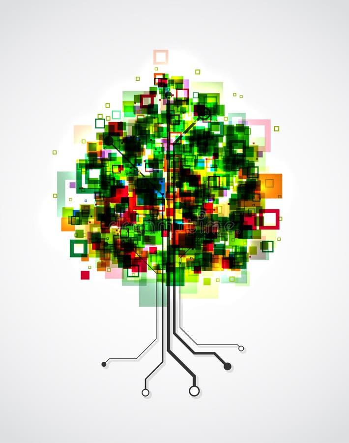 Pixelboom stock illustratie