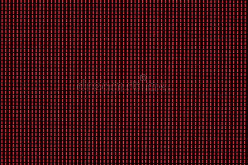 Pixeles rojos encendidos en el monitor de computadora fotografía de archivo