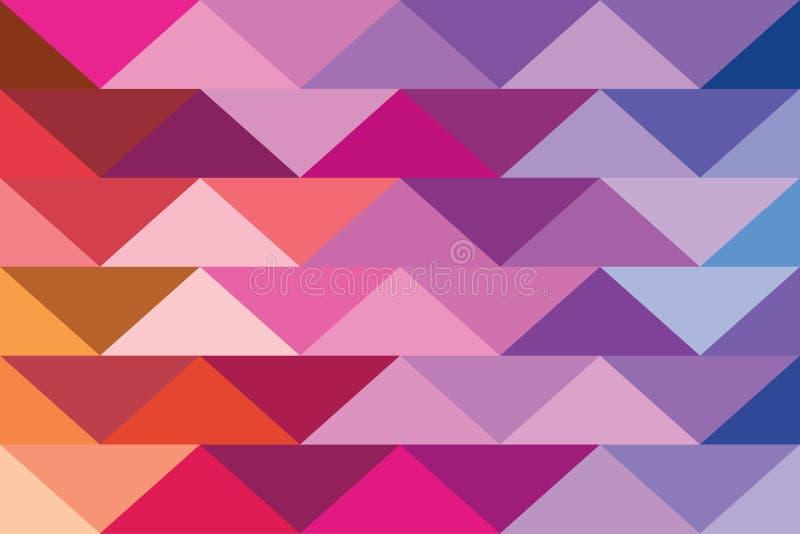 Pixelfahnendreieckzusammenfassungshintergrundfarbmusterabstufungen tapezieren vektor abbildung