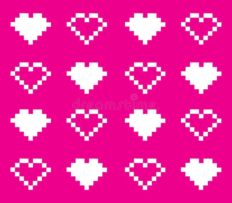 Pixelhearts sans joint illustration stock