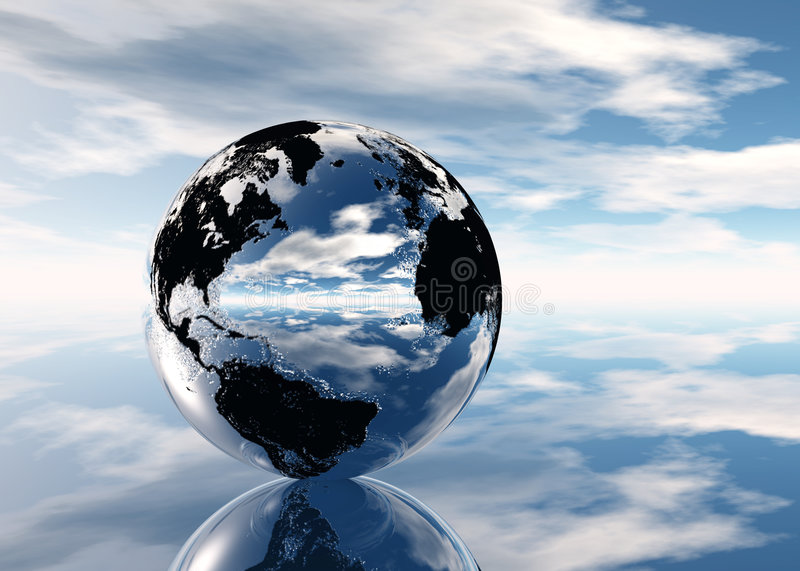 Pixelized Earth royalty free stock image