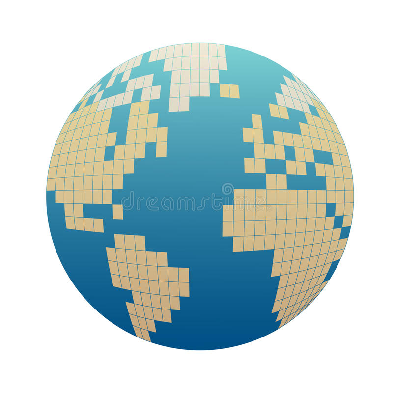 Pixelizedbol vector illustratie