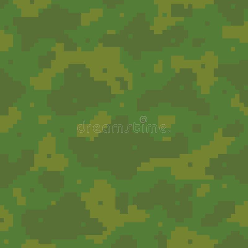 Pixelkunst-Armeemuster lizenzfreie abbildung