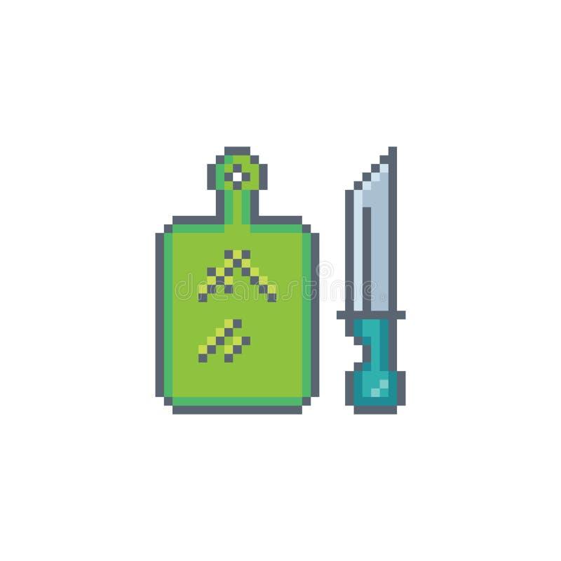Pixelkunst-Ausschnittikone vektor abbildung