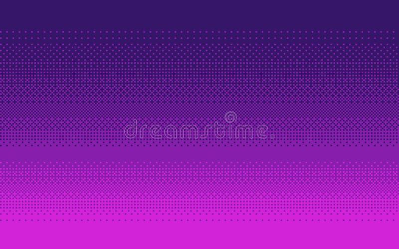 Pixelkunst-Steigungsfarbe Zappelnder Vektorhintergrund lizenzfreie abbildung