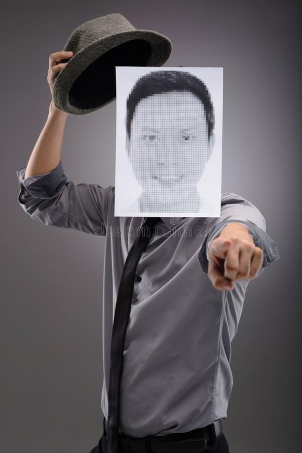 Pixelporträt stockfoto