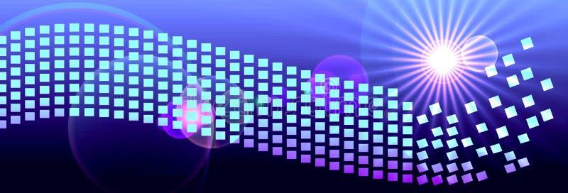 Pixels de l'espace de Digital d'en-tête de bannière illustration libre de droits