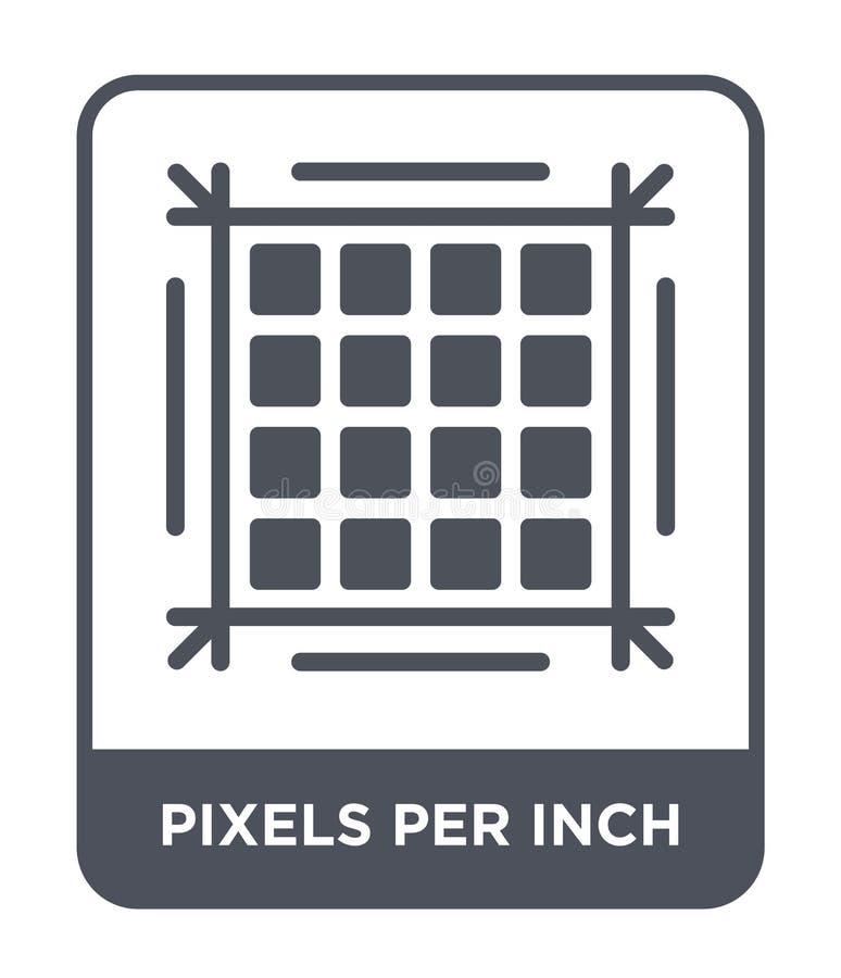 pixels par icône de pouce dans le style à la mode de conception pixels par icône de pouce d'isolement sur le fond blanc pixels pa illustration stock
