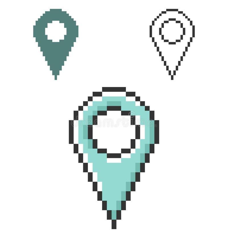 PIXELsymbol av läge vektor illustrationer