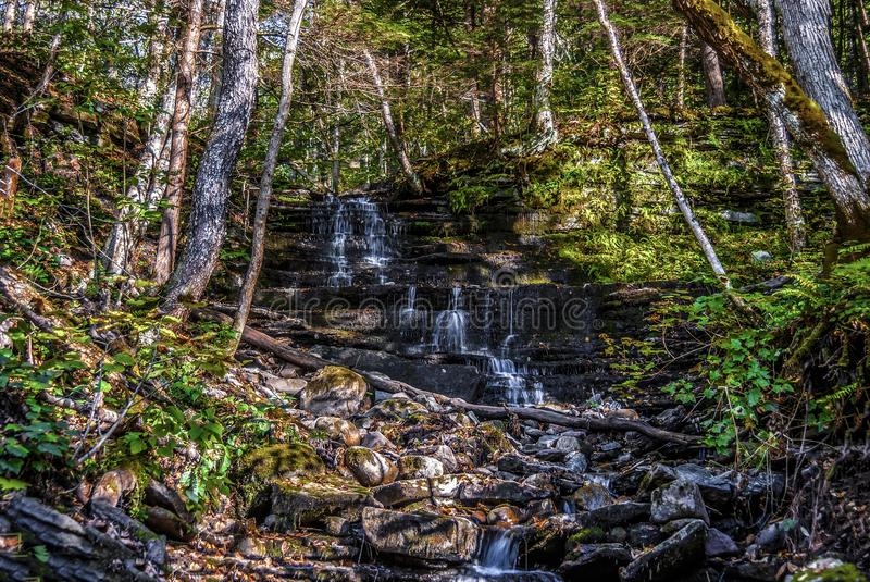 Pixely Falls Upstate New York. Pixely Falls: are beautiful and family friendly place in Upstate New York in Boonville royalty free stock photo