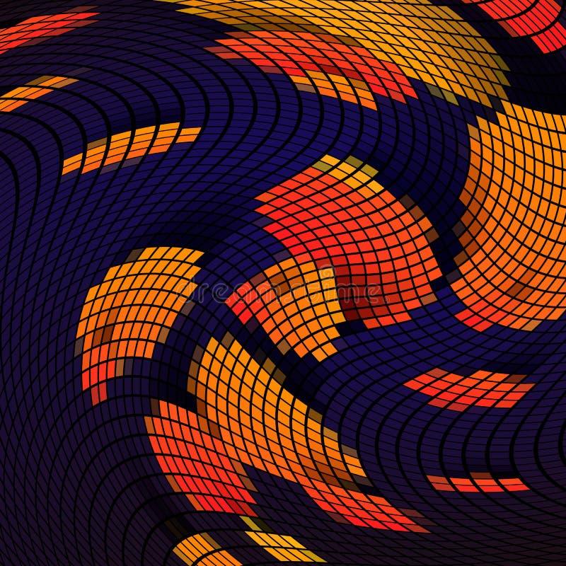 Pixelzusammenfassungs-Mosaikhintergrund, Vektorillustration für Website, Karte, Plakat lizenzfreie abbildung
