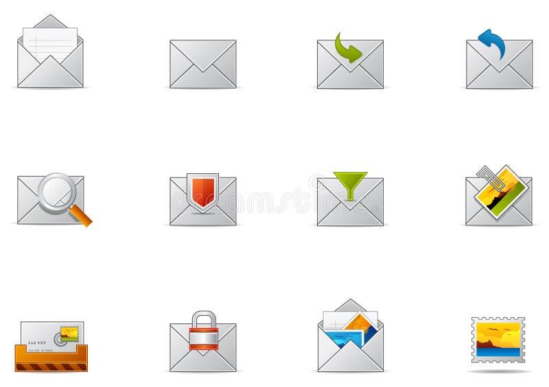 Pixio #10 determinado - icono del email y de la comunicación ilustración del vector