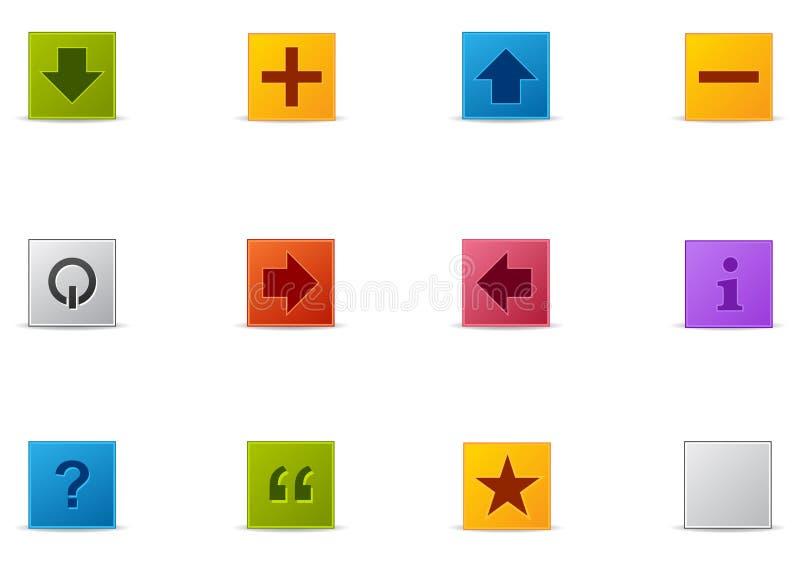 Pixio #5 réglé - formes illustration stock