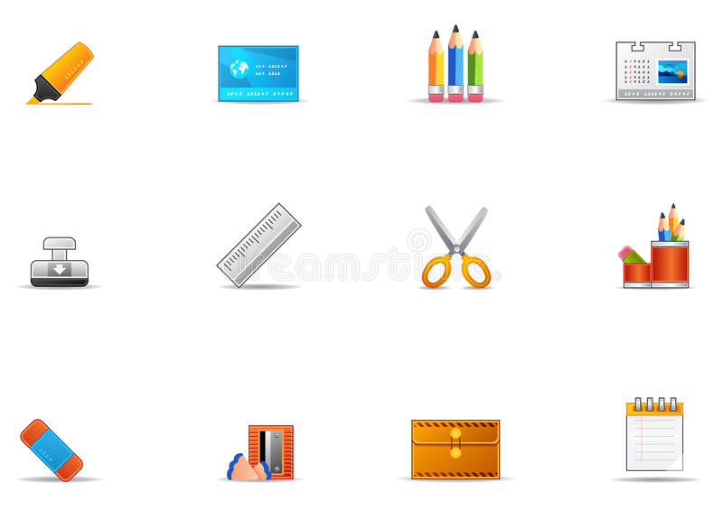 Pixio Set #17 - Stationery Icons Royalty Free Stock Photography