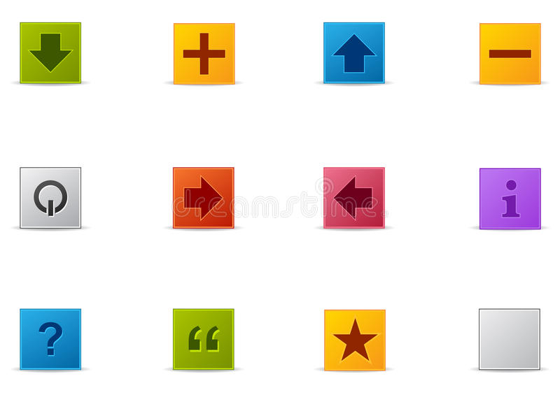 Pixio set #5 - Shapes. Commonly used Website and Internet icons. Pixio set #5 stock illustration