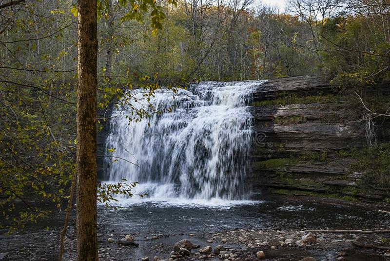 Pixley Falls Upstate New York. Pixley Falls: is a great hiking place and family friendly in Boonville Town in Upstate New York stock photos