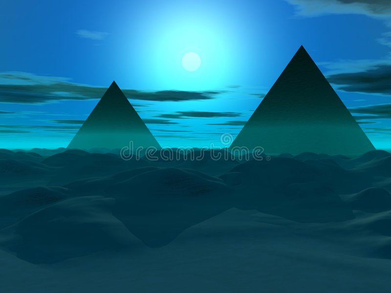 piyramid 皇族释放例证