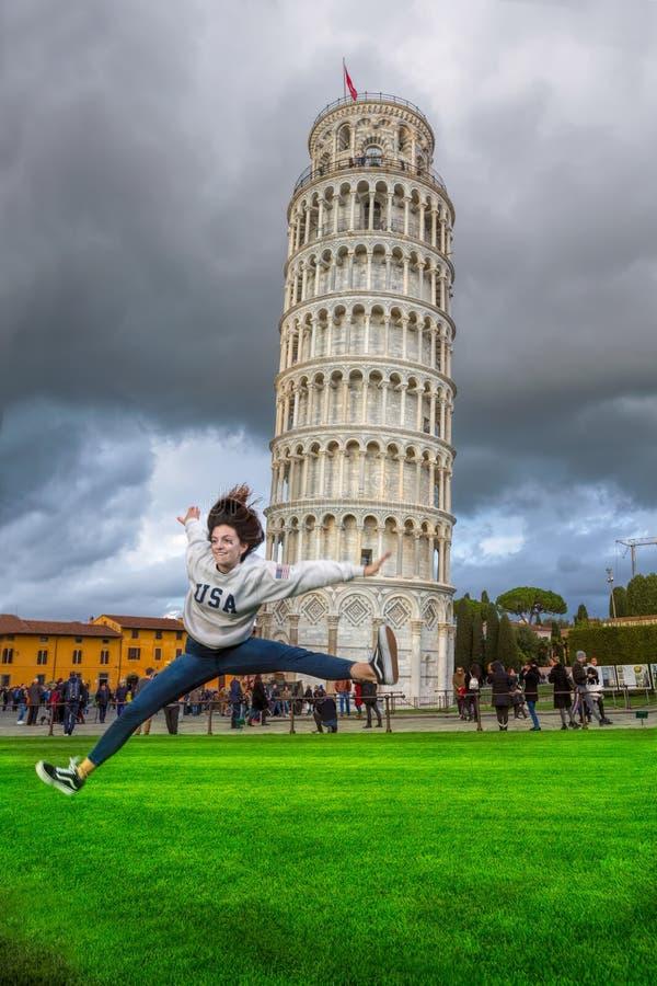 Piza Italia la torre oblicua foto de archivo libre de regalías
