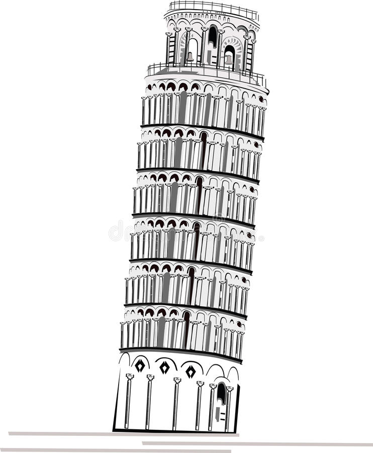 Download Piza Tower stock vector. Image of construction, fashion - 16913094