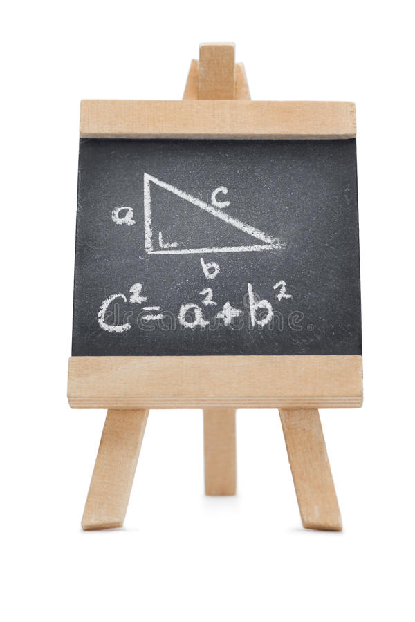 Pizarra con una fórmula matemática fotografía de archivo