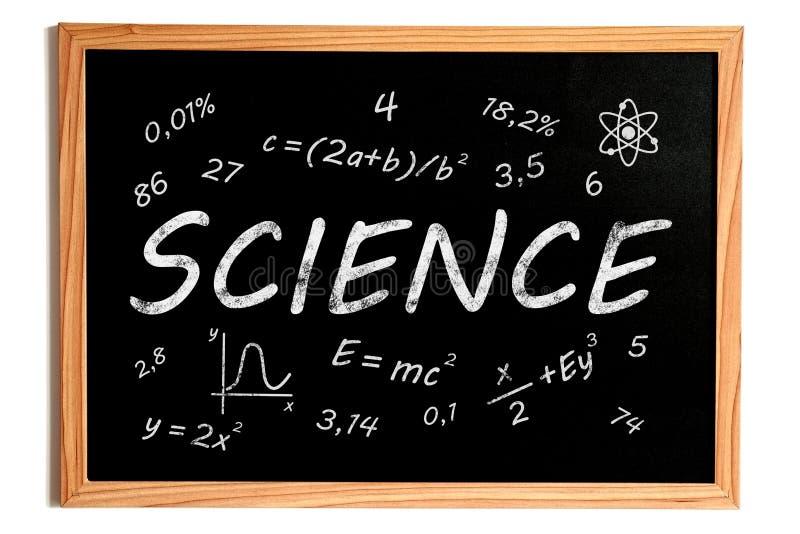 Pizarra de la ciencia stock de ilustración