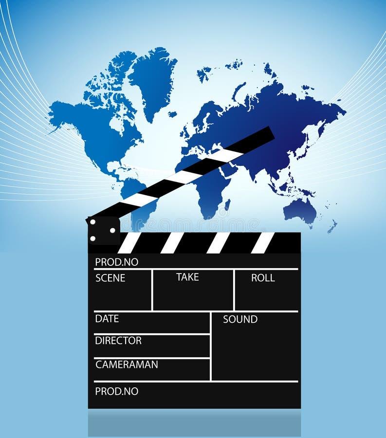 Pizarra de la película stock de ilustración