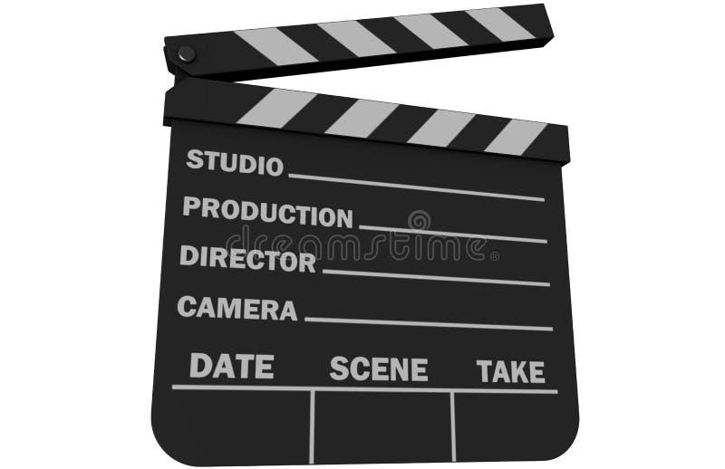 Pizarra de la película fotos de archivo
