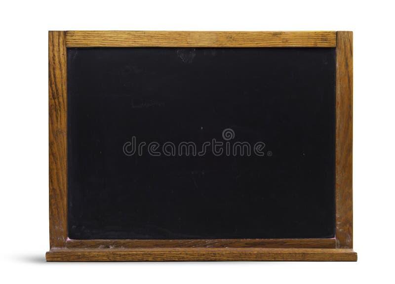 Pizarra de madera retra vieja aislada imagenes de archivo