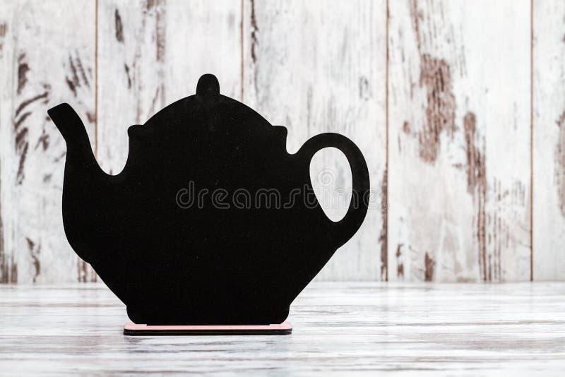 Pizarra Decorativa Para Escribir Con Forma De La Tetera Foto de ...